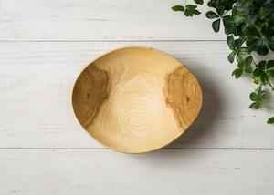 クヌギ材 サラダボウル M 1(グリーンウッドターニング・木の器・生木の器)/Canaria Wood Works
