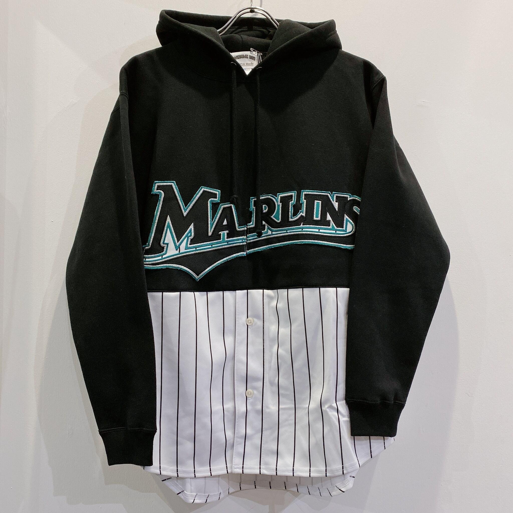 AWESOME BOY × ICHIRYU MADE REMAKE / BASEBALL HOODIE