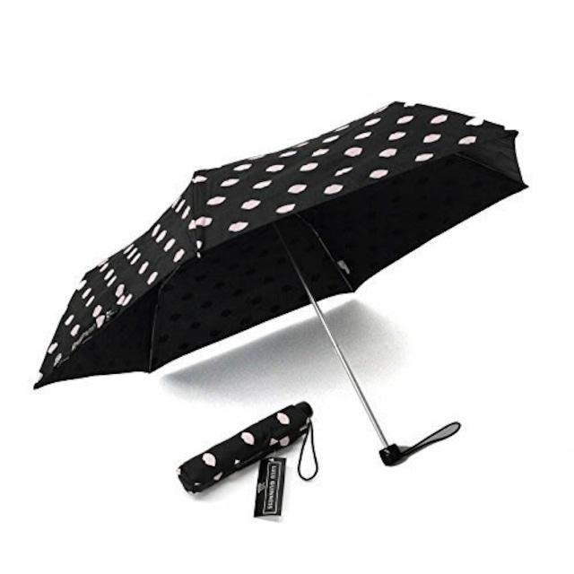 Lulu Guinness フルトン Fulton L718 027110 Superslim-2 Lips Print フルトンとのコラボモデル 折りたたみ傘