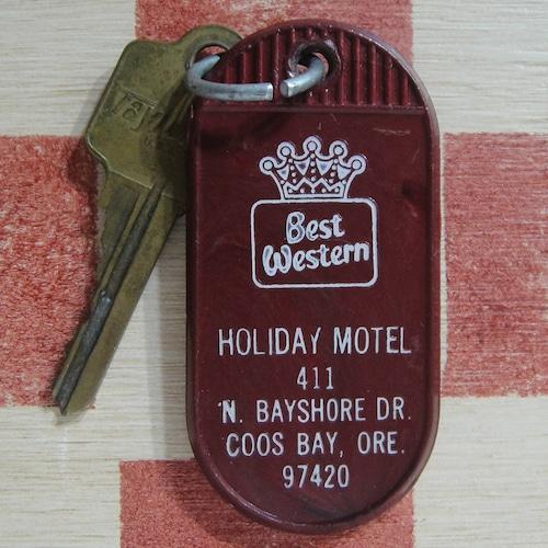 アメリカ Best Western[ベスト・ウエスタン]モーテル ヴィンテージ ルームキーホルダー