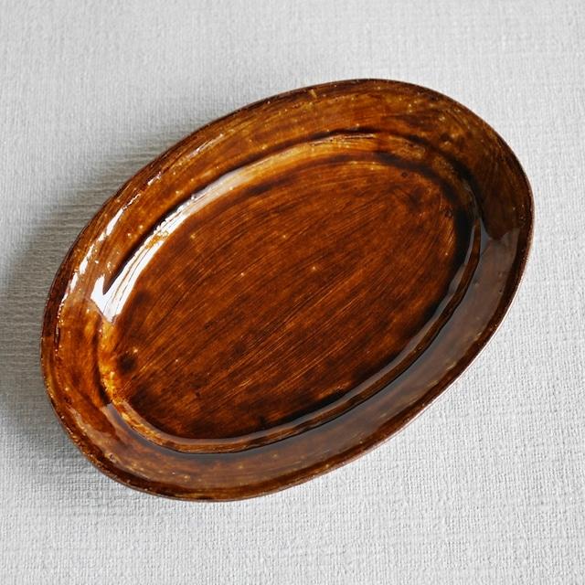 オーバル皿 Amber