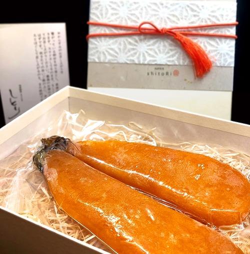 「からすみ 西京味噌仕立て」1腹 (2本) Mサイズ ※化粧箱付