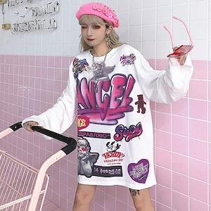 【トップス】ストリート系図柄ファッションTシャツ25968621