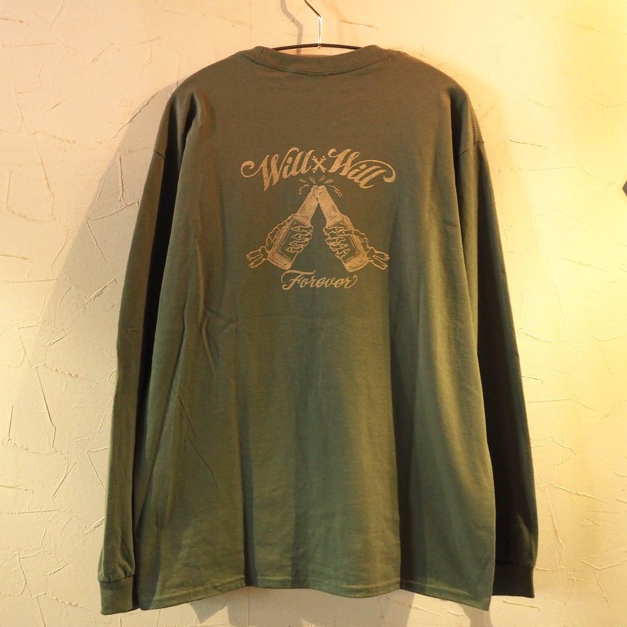 【一点物】 Forever Long T-shirts Olive Lサイズ