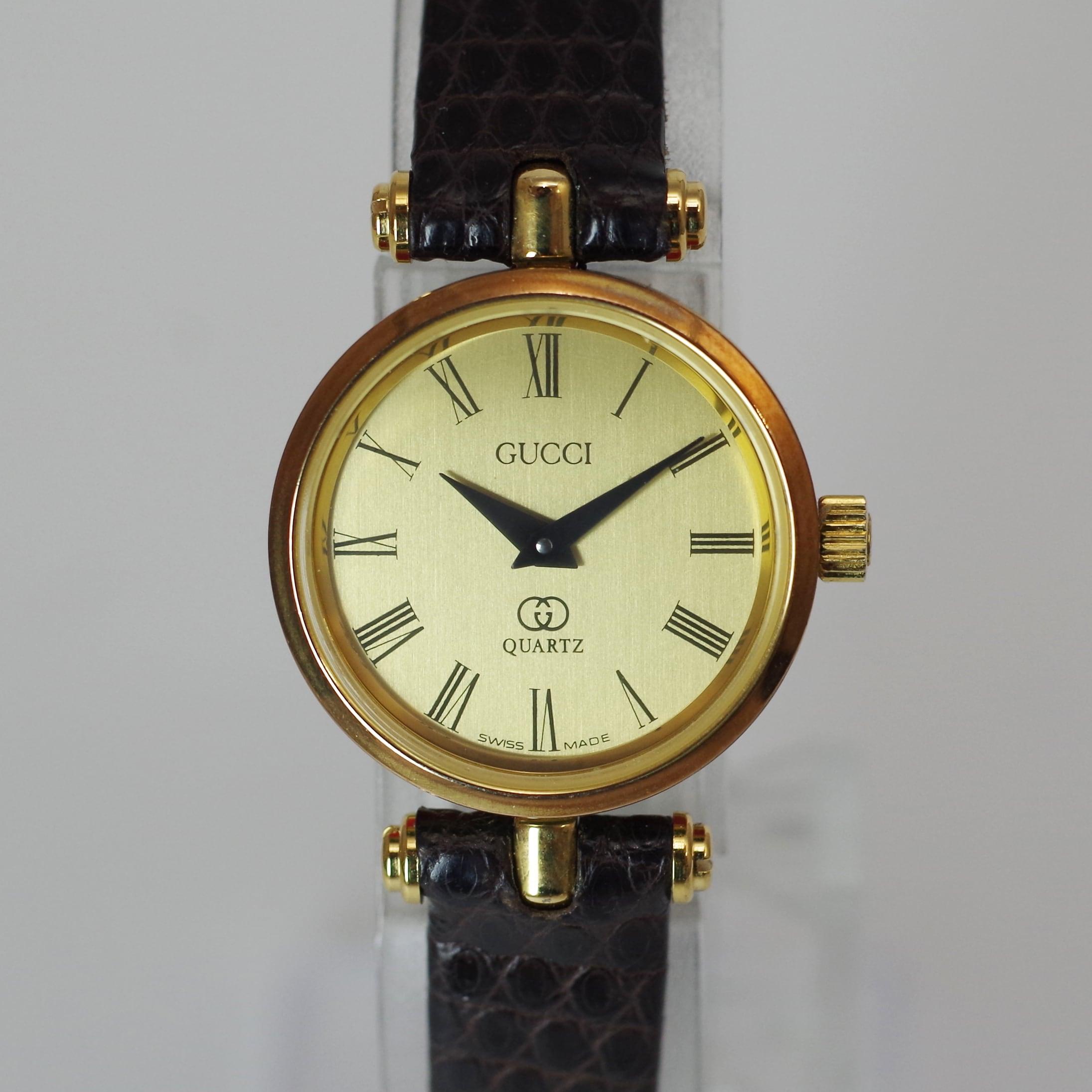 GUCCI グッチ 2040L クオーツ ゴールド 革ベルト 腕時計 レディース