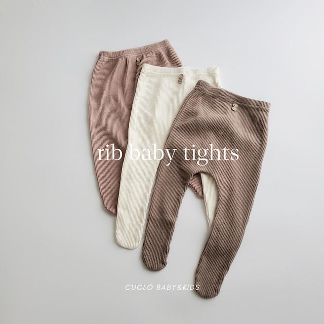【即納】rib baby tights〔リブ ベビータイツ〕 Han's bebe