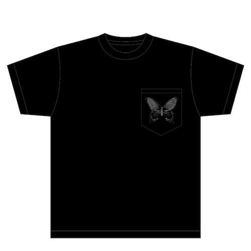 "Tシャツ(胸ポケット) - wombscape ""蝶"""