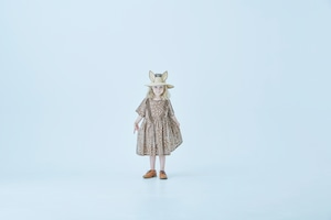 【21SS】eLfinFolk(エルフィンフォルク)QiLin onepiece dress(90/100/110/120)brown ワンピース