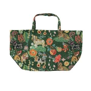 Nathalie Lete Market Bag Dog & Flower