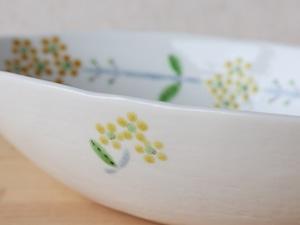 楕円鉢 菜の花 (工房直売価格)