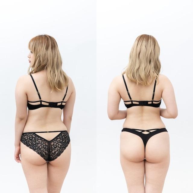 Audrey オードリー ノンワイヤーブラ&ショーツ2種類セット / ブラック
