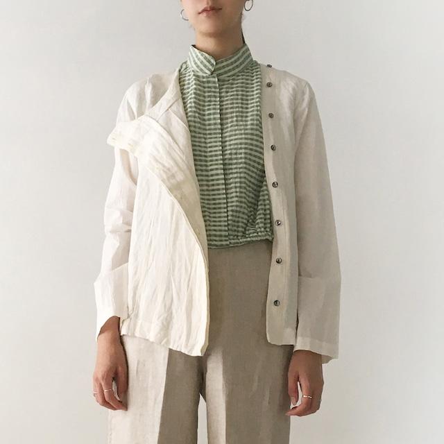 "One side open jacket ""white"""