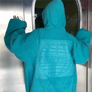 【トップス】雑誌掲載商品 プリント アルファベット 防寒 裏起毛 原宿系 ストリート パーカー53697539