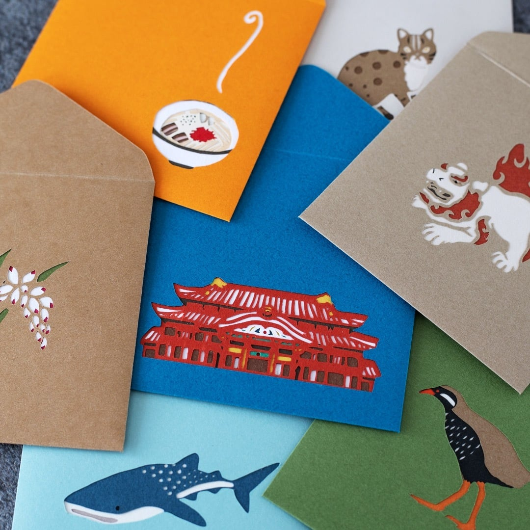 首里城:切り絵のポチ袋