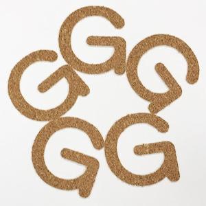 切り文字 A&Cペーパー コルク 粘着付 アルファベット「G」