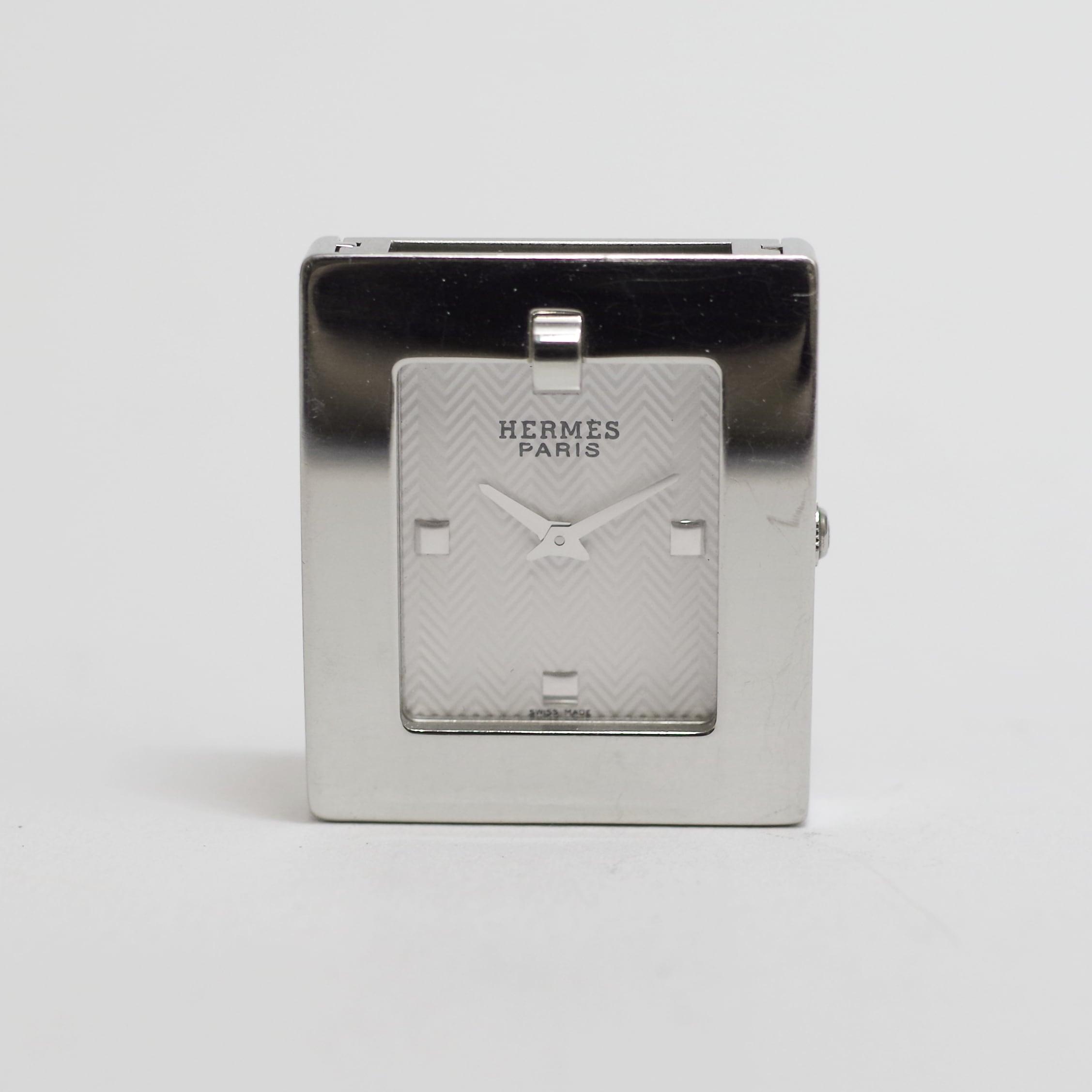 HERMES エルメス ベルトウォッチ SS クォーツ 革ベルト 替えベルト付き 腕時計 レディース