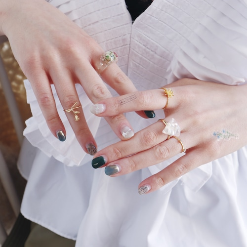 SET RINGS || 【通常商品】 BLOSSOMS CLEAR RING 5 SET A || 5 RINGS || MIX || FBB046