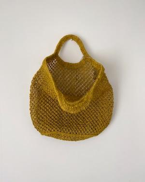 Jute macrame shopping bag Yellow|ショッピングバッグ イエロー