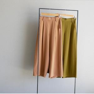 straight tuck wide pants(milk tea / pistàcchio)