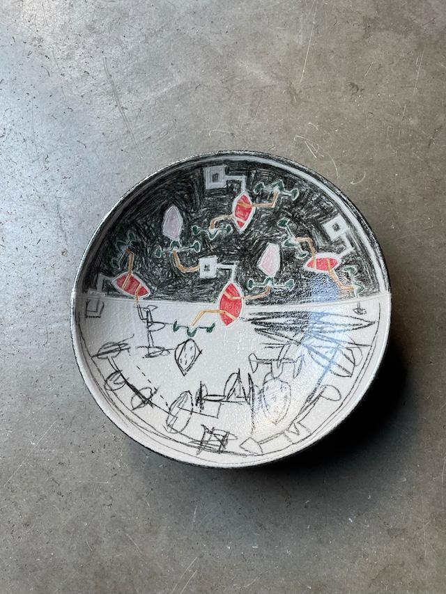 畑中圭介 ハイブリッドオリベ7寸鉢