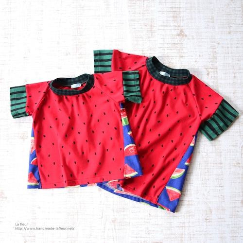 【90】スイカTシャツ男の子用*ロンリーTシャツ カットソー/Lafleur