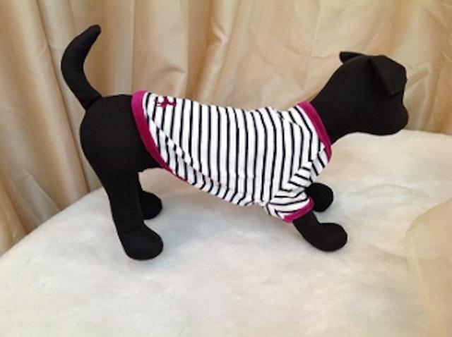 犬の生活 ボーダーTシャツ ホース