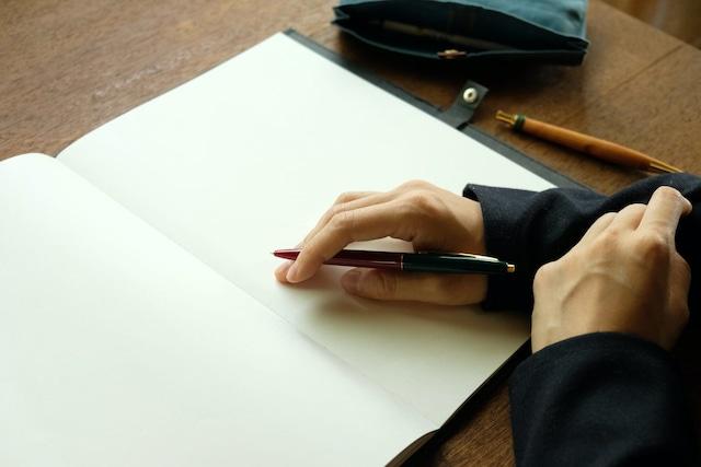 丈夫な紙のノートカバー