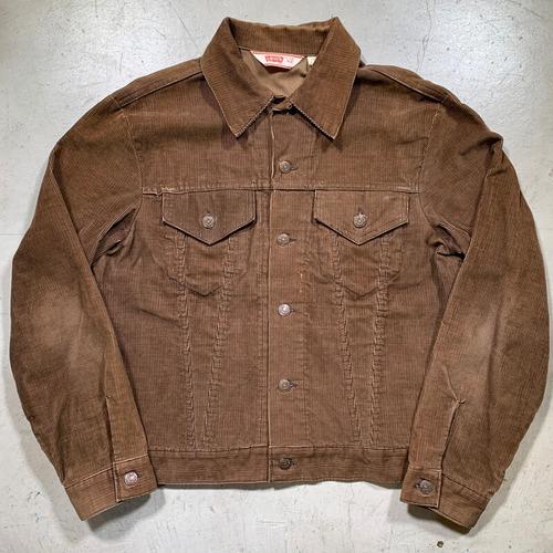 70's Levi's リーバイス 70505-1529 コーデュロイジャケット ブラウン トラッカージャケット サイズ42 美品 刻印52 USA製 希少 ヴィンテージ BA-1593 RM2012H