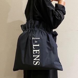 リネン巾着BAG(黒)