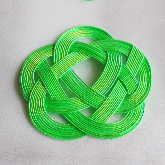 【在庫限り】平梅結びコースター 緑