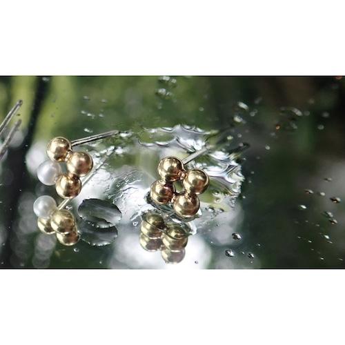 JIU Brass Studs Earrings