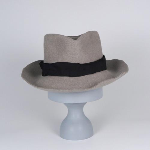AW20-BE-3 Rabbit Felt Crinkle Hat E - BLK