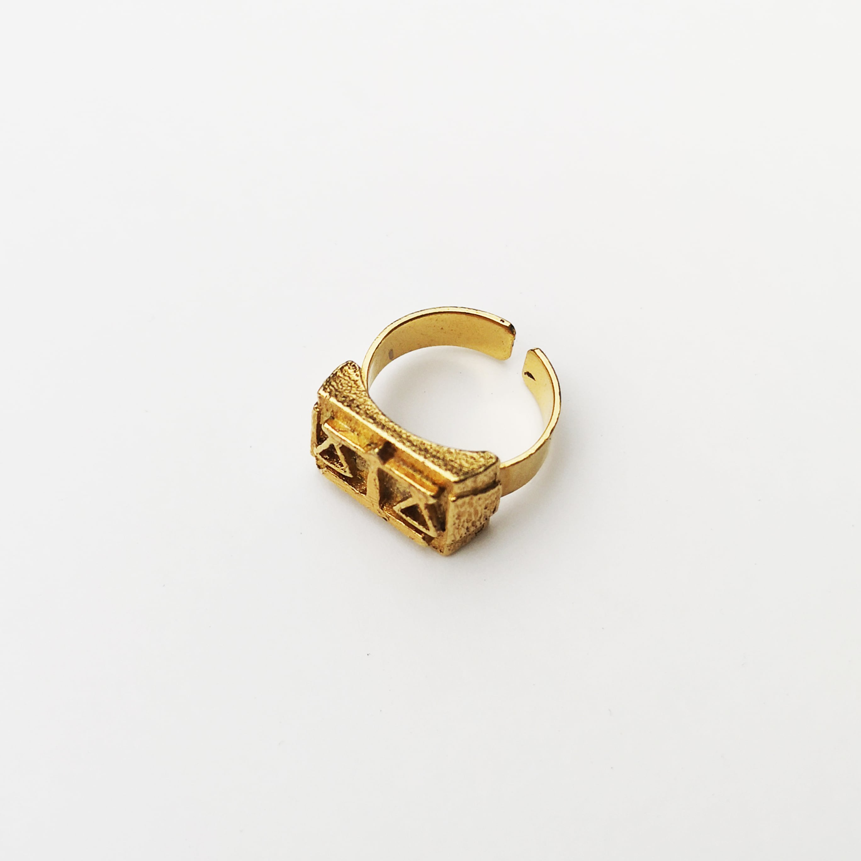 LIBRA RING / 925 Sterling Silver plated in 23K Gold
