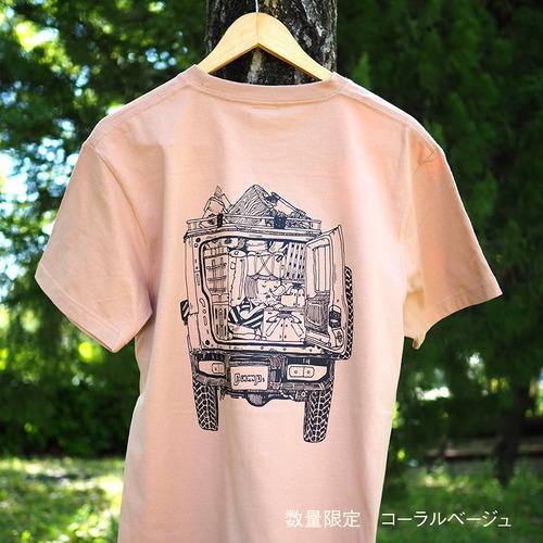 CAMPS キャンプTシャツ【テトリス積載de車中泊】両面プリント No27