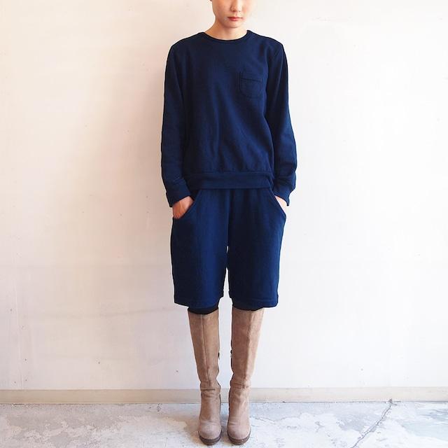 ■スウェットポケットパンツ/藍