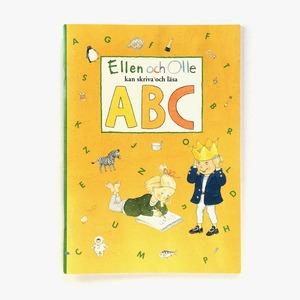 スウェーデン語ドリル帳「Ellen och Olle kan skriva och läsa ABC(エレンとオッレはABCを書いたり読んだりできます)」《2009-01》