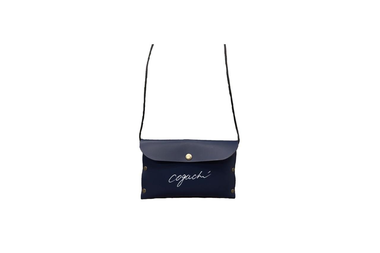 coguchi leather logo mini bag (NVY)