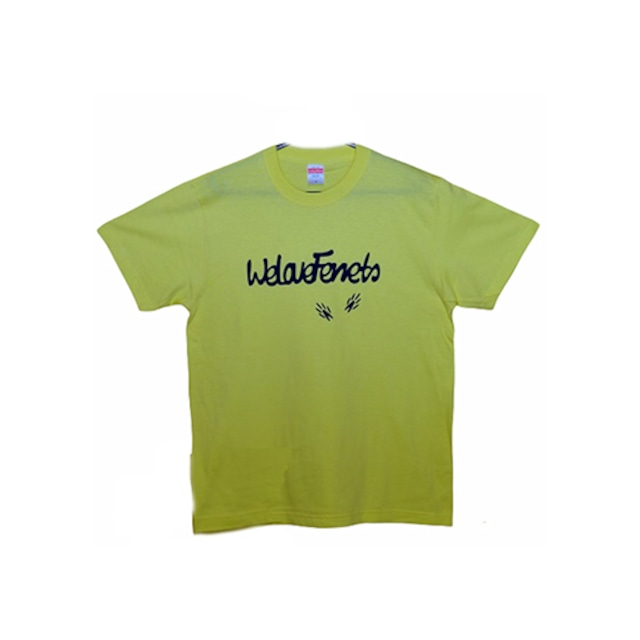 we Love Ferrets & 足跡 Tシャツ 5001-01 【カラー ライトイエロー】 サイズ:M