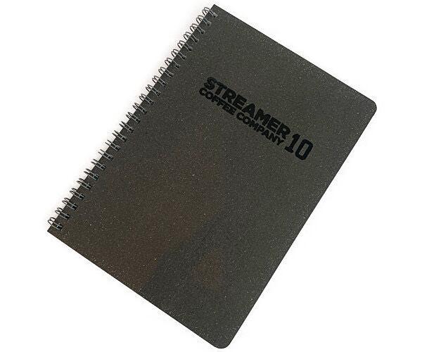 ツインリングノート A5・40枚(7mm×25行) ステルスBLACK×BLACK