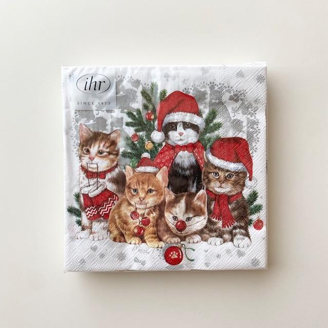 2021秋冬【IHR】ランチサイズ ペーパーナプキン CAT - MAS ホワイト 20枚入り
