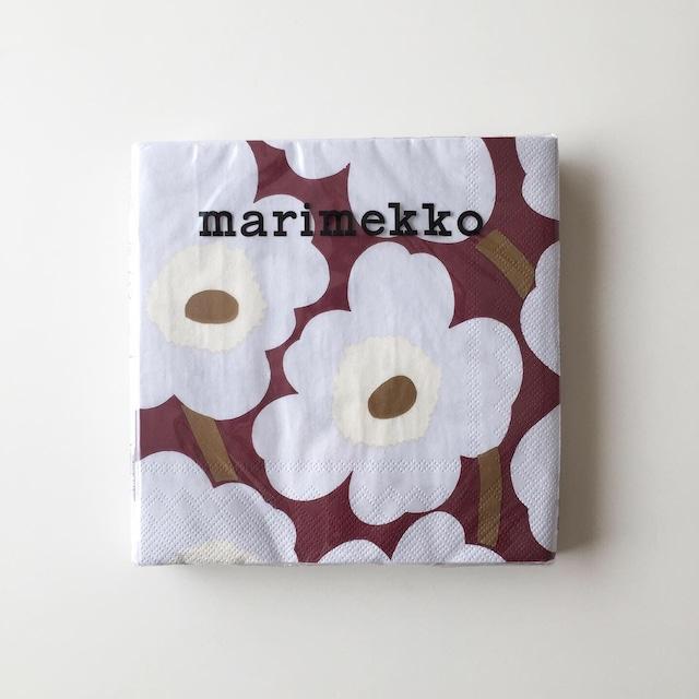 【marimekko】ランチサイズ ペーパーナプキン UNIKKO ボルドー 20枚入り