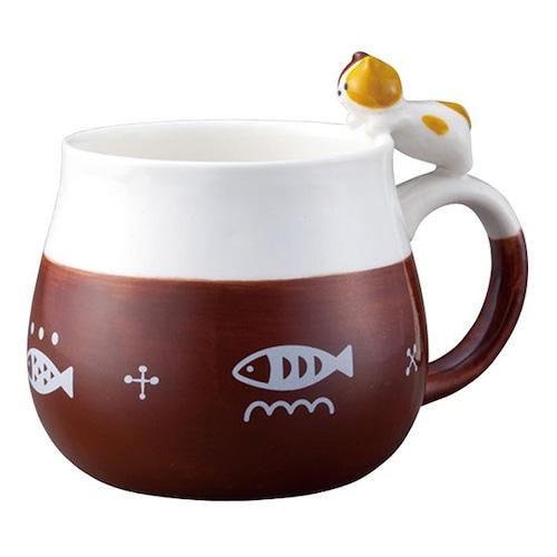 ニャコット マグカップ(ミケ猫)(B-3-021M)
