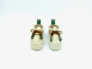"""Baby shoes tanned Yezo deer """"type green"""""""