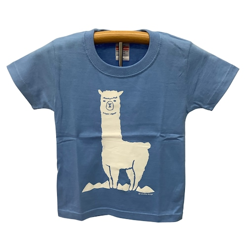 sunokko design 山とアルパカキッズTシャツ ライトブルー 限定販売
