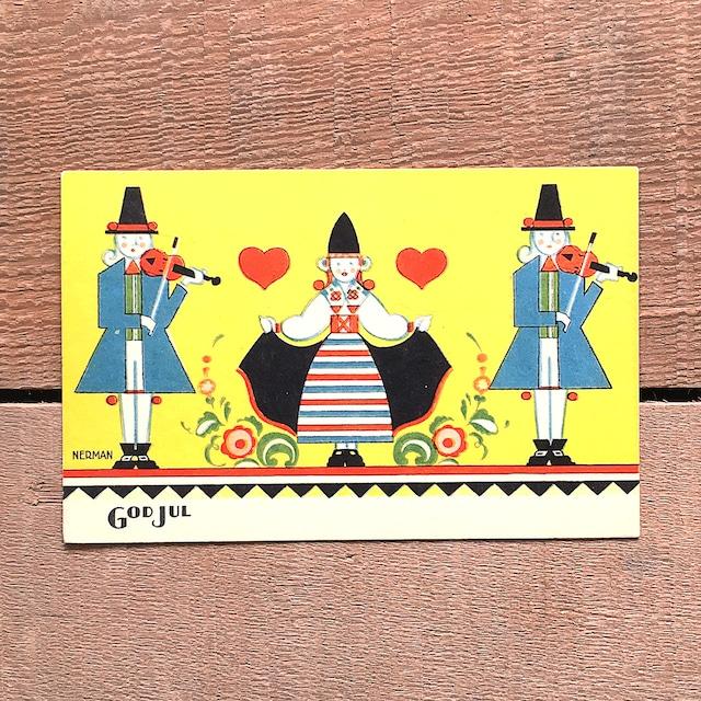 クリスマスカード「Einar Nerman(エイナル・ネールマン)」《210218-02》