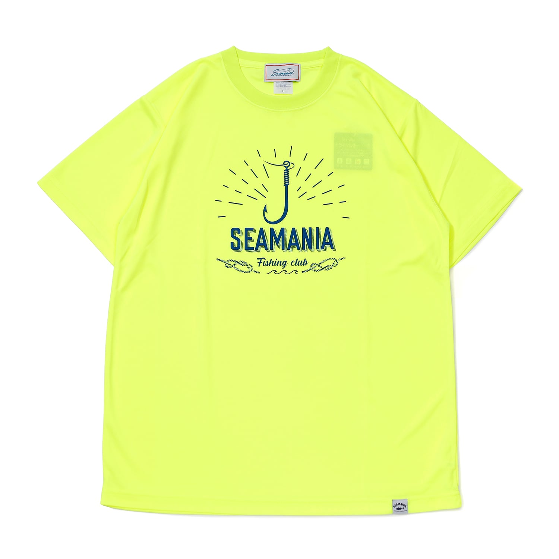 【Seamania】フックモチーフUV DRY Tシャツ [N.YEL]