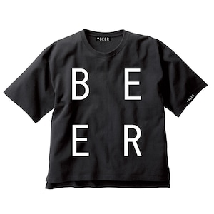 BEER 改行ロゴT ブラック