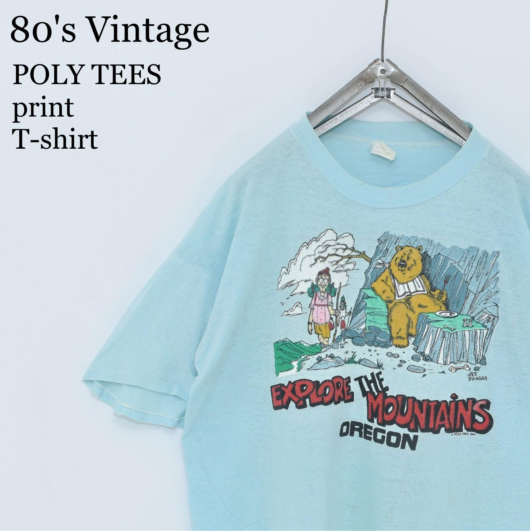 80s vintage PolyTees パキ綿 ポップアートTシャツ ビンテージ