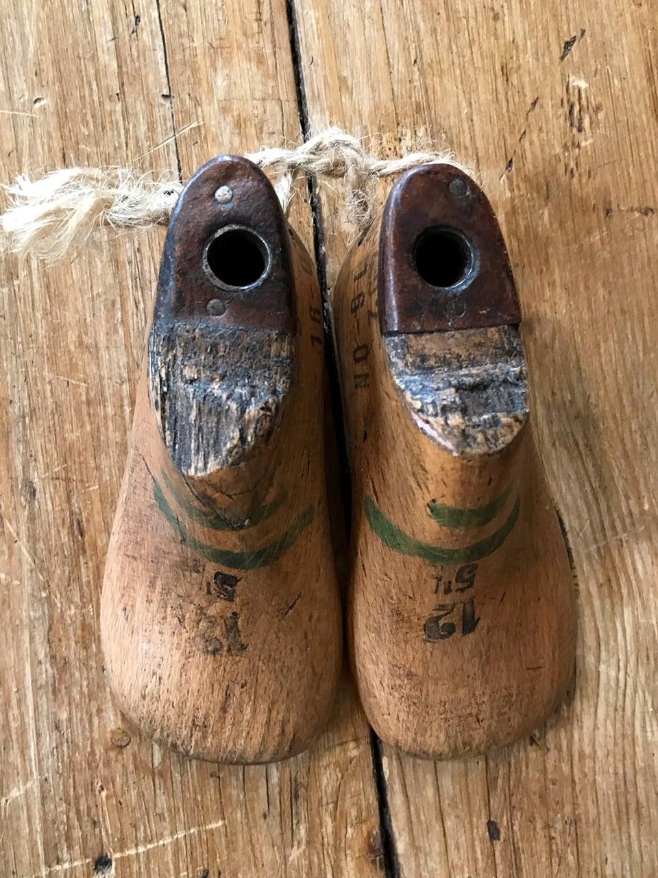 木製ベビーシューモールド 靴の木型