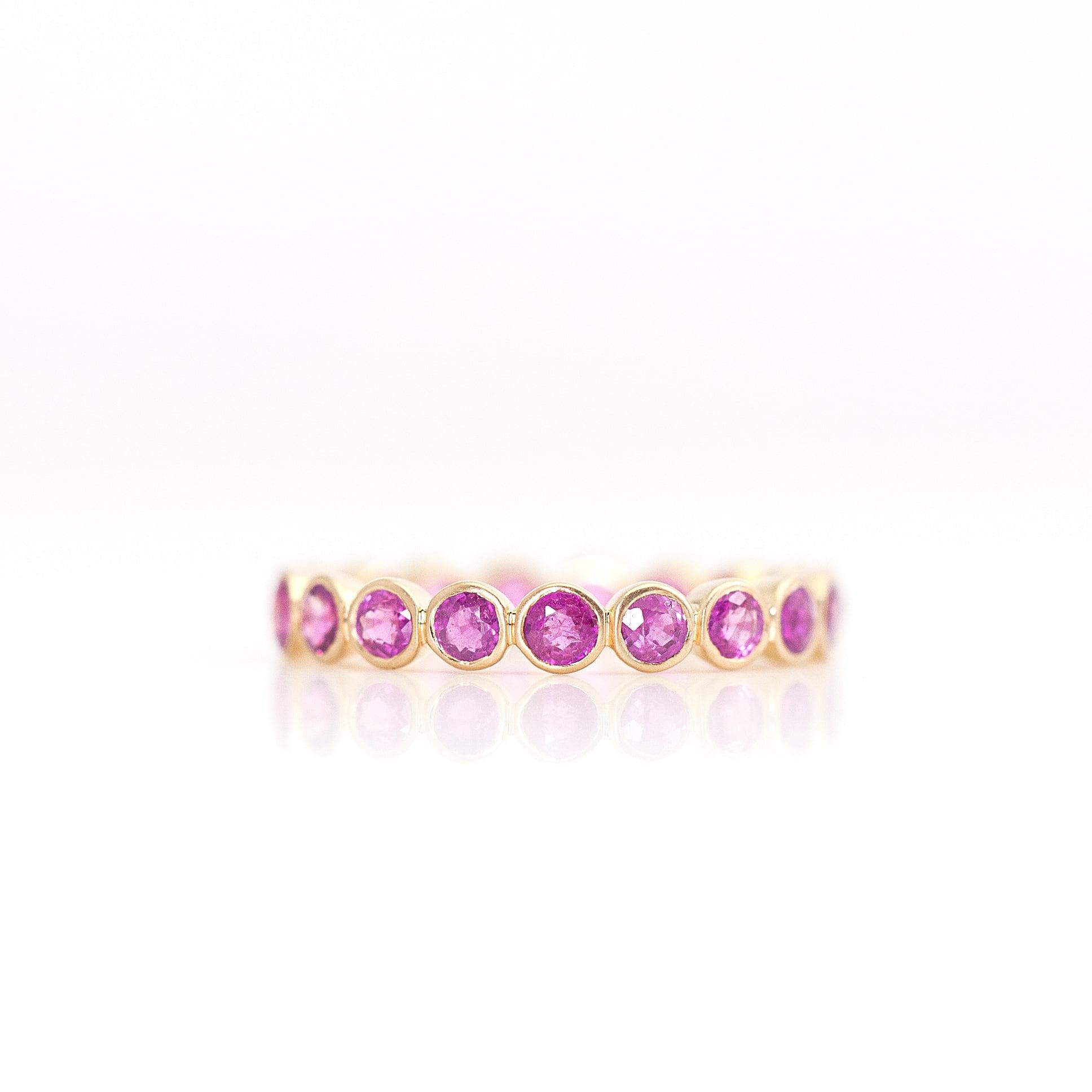 Ruby full eternity ring